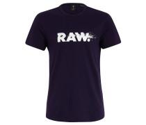 T-Shirt, Baumwolle, Logo-Print, Rundhals, Lila