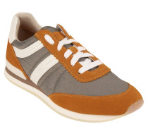 "Sneaker ""Adreny-S"", Materialmix, Veloursleder, Orange"