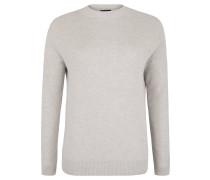 Pullover, überschnittene Schulter, Stehkragen, Grau
