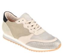 Sneaker, Leder, Mustermix, Metallic-Look
