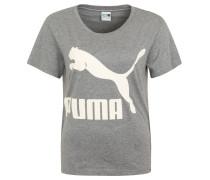 "T-Shirt ""Archive"", Logo-Print, Baumwoll-Mix, für Damen, Grau"