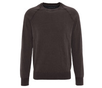 Pullover, meliert, used-Optik, Grau