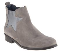 "Chelsea Boots ""P1285OLLY 11B"", Rauleder, Stern, Reißverschluss, Grau"