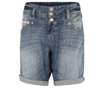 "Shorts ""Raya"", Used-Look, breiter Bund, Blau"