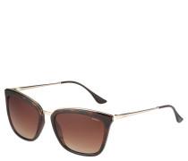 Sonnenbrille, Trapezform, Bügel in Tortoise-Look
