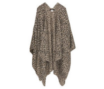 Poncho, offene Front, Animal-Print