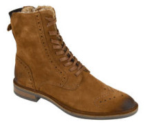 Boots, Leder, Lyralochung