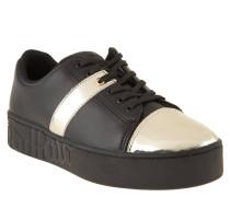 """Sneaker """"Melbourne"""", Metallic-Effekt, Plateausohle, Schwarz"""