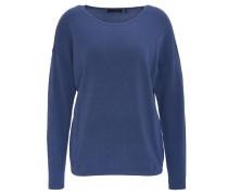 Pullover, unifarben, Rundhalsausschnitt, Blau