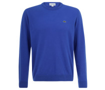 Pullover, reine Merino-Wolle, gerippt, für Herren, Blau