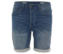 Jeans-Shorts, Regular Fit, Jeans-Look, Baumwoll-Stretch, Blau