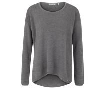 Pullover, luftiger Strick, gerippte Abschlüsse, Grau