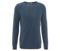 Pullover, strukturiert, Pilling-Optik, Blau