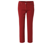 "Jeans, ""ROMY"", unifarbend, Stretch, Rot"