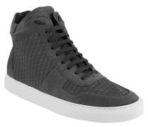 Sneaker, Leder, strukturiert, Grau