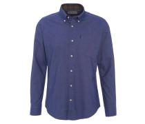 Freizeithemd, dicker Stoff, Baumwolle, Jeans-Optik, Blau