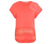 "T-Shirt ""Bali"", unterbrochene Details, Rosa"