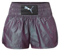 Sport-Shorts, Holo-Optik, breiter Bund, Logo, für Damen, Lila