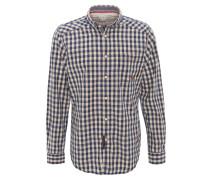 Trachtenhemd, Kent-Kragen, Blau