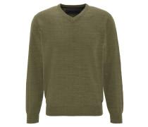 Pullover, meliert, V-Ausschnitt, Baumwolle