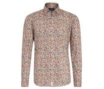 Freizeithemd, Regular Fit, Baumwolle, Allover-Print, Orange