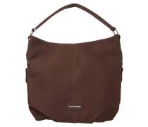 Handtasche, Lederoptik, Reißverschluss, Braun