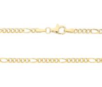 Figarokette, Karabinerverschluss, 375er Gold