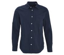 Freizeithemd, Slim Fit, Kent-Kragen, aufgesetzte Brusttasche, Blau