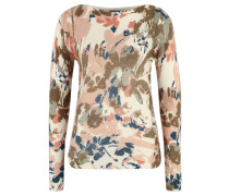 Pullover, Allover-Print, florales Design, weich