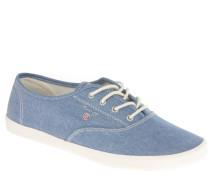 "Sneaker ""New Haven"", Denim-Optik, Emblem, Canvas, Blau"
