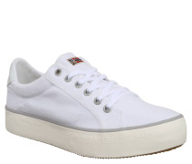 Sneaker low, Textil, Logo-Stickerei, Canvas, Weiß