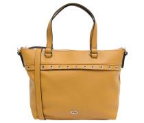"""Handtasche """"Treasure"""", Kunstleder, Saffiano-Look, Gelb"""