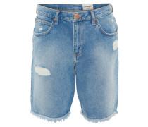 Jeans-Shorts, Regular Fit, Destroyed-Look, Fransen-Saum