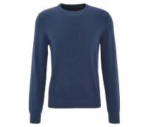 Pullover, Feinstrick, Baumwolle, uni, Blau
