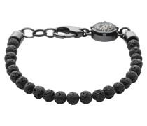 "Armband, ""RAGGED"", Lava-Perlen, schwarz,"