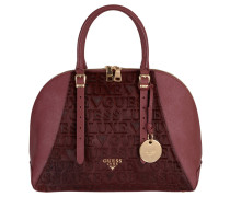 "Handtasche ""Lady Luxe Dome Satchel"" Leder, Ponyfell, Rot"