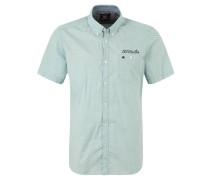 Freizeithemd, Muster, Button-Down-Kragen, Grün