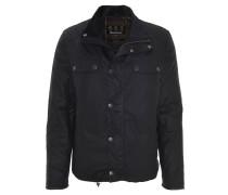 Klassische Jacke, Cord-Kragen, gewachste Baumwolle, uni, Blau