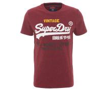 T-Shirt, Logo-Print, dicker Stoff, Rot