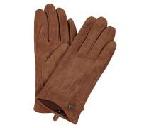 Handschuhe, Veloursleder, Ziernähte, uni