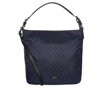 "Handtasche ""DINA Cornflower"", Printmuster, Nylon, Blau"