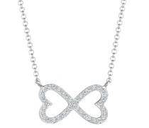 Halskette Herz Infinity Swarovski® Kristalle 925
