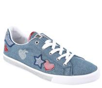 Sneaker, Strass, Stickerei, Lack-Elemente