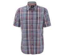 Freizeithemd, Comfort Fit, Kent-Kragen, Baumwolle, Rot