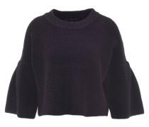 Pullover, 3/4-Ärmel, cropped, Grobstrick, Blau