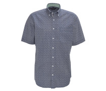 Freizeithemd, Modern Fit, Kurzarm, Detailprint, Grün