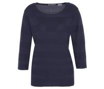 Pullover, 3/4-Arm, uni, gestreift, Blau