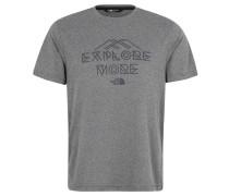 """T-Shirt """"Tanken2"""", Print, schnelltrocknend, für Herren, Grau"""
