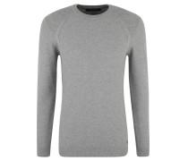 Pullover, reine Baumwolle, Struktur-Strick, Emblem
