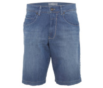 "Jeansshorts ""Bali"", Ultra Light Cotton Stretch, Waschung, Blau"
